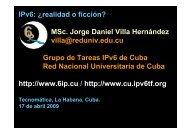 descargar conferencia - Bienvenidos al Portal IPv6 Cuba