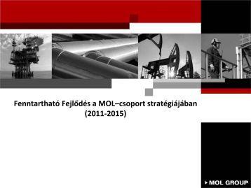 Fenntartható fejlődés a MOL-csoport stratégiájában (pdf, 385 kB)