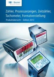 Produktübersicht Zähler und Prozessanzeigen - Baumer