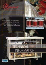 Technical Information Low Voltage Dry-Type - Ruhstrat GmbH