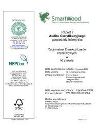 Raport z Auditu Certyfikacyjnego gospodarki leśnej dla - Rainforest ...