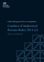 Conduct of Authorised Persons Rules 2013 (2) - Ministry of Justice
