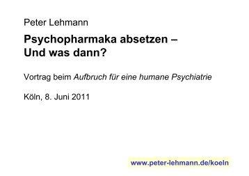 Psychopharmaka absetzen – Und was dann?