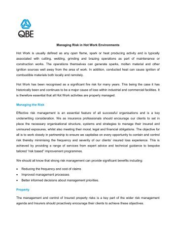 hot work risk assessment pdf