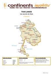 THAILANDE - Continents Insolites