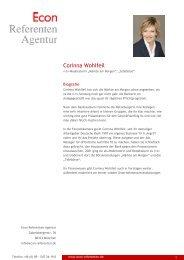 Corinna Wohlfeil - Econ Referenten-Agentur