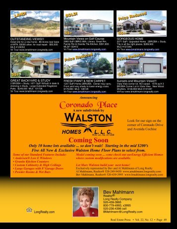 520-266-1354 cell - Real Estate Press of Cochise
