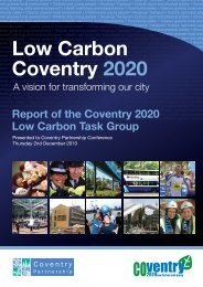 Low Carbon Coventry 2020: A vision for transforming our city