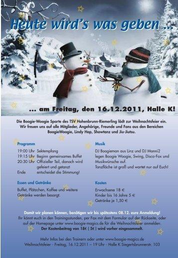Flyer - Boogie Magic's Hohenbrunn