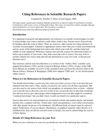 scientific research paper citation format Writing a research paper for your science fair this is called a reference citation when using apa format and parenthetical research paper science fair.