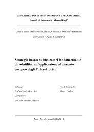 Strategie basate su indicatori fondamentali e di volatilità: un ...