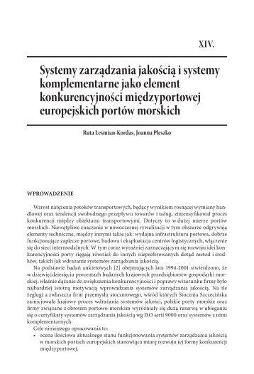 Systemy zarządzania jakością i systemy ... - PortalMorski.pl