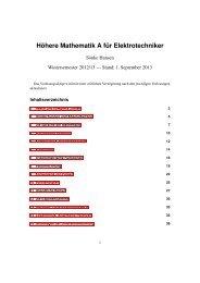 Höhere Mathematik A für Elektrotechniker