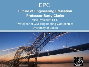 Promoting Excellence in Engineering Higher Education Future of ...