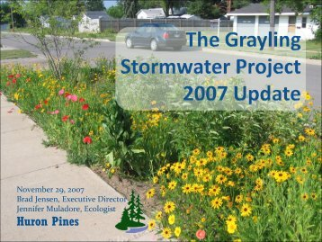 The Grayling Stormwater Project - Michigan Water Environment ...