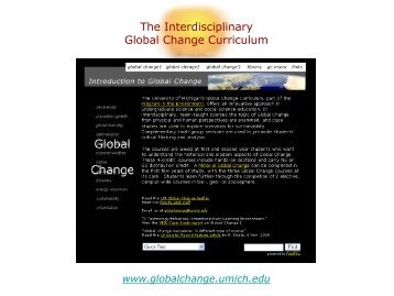 The Interdisciplinary Global Change Curriculum