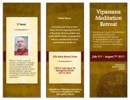 Vipassana Meditation Retreat - Chanmyay Vihara