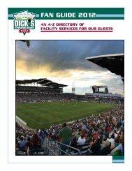 FAN GUIDE 2012 - Dick's Sporting Goods Park