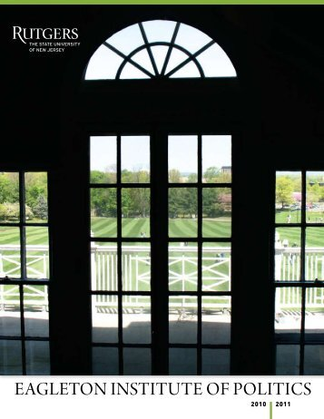 2010-11 - Eagleton Institute of Politics - Rutgers, The State ...