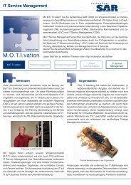 IT Service Management - Systemhaus SAR GmbH