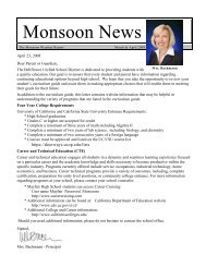 Monsoon News - Bellflower Unified School District