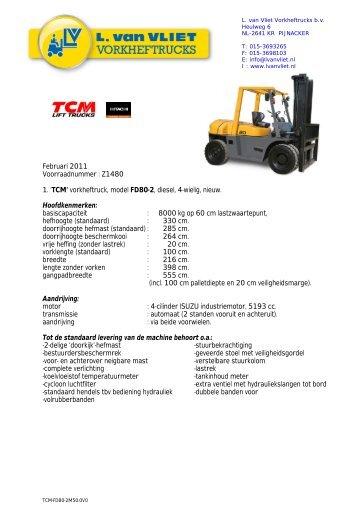 download specificatieblad - L. van Vliet Vorkheftrucks
