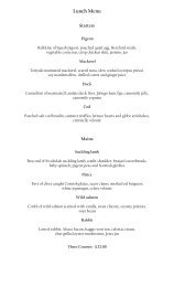 Lunch Menu - Pennyhill Park Hotel