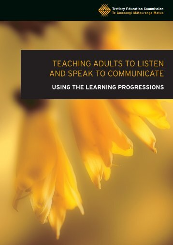 Teaching Adults to Listen and Speak to Communicate - Tertiary ...
