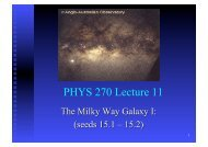 PHYS 270 Lecture 11