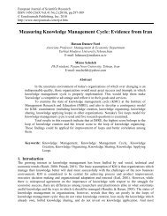 Measuring Knowledge Management Cycle: Evidence from Iran