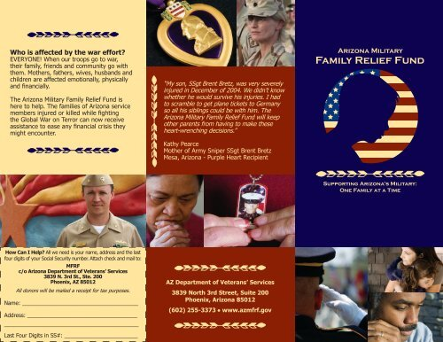 Family Relief Fund - Arizona Department of Veterans Services