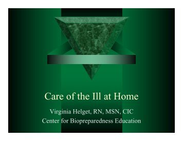 Care of the Ill at Home - UNMC
