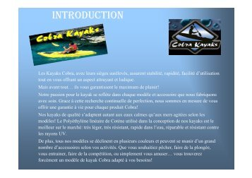 Cobra Kayaks.pdf (french version) - Ozplus.com