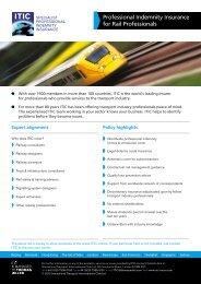 Rail Fact Sheet 01 - Thomas Miller