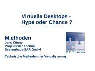 Virtuelle Desktops - Hype oder Chance - Systemhaus SAR GmbH