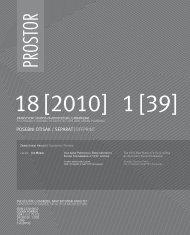 PROSTOR - Arhitektonski fakultet