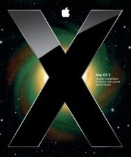 Mac OS X Security Configuration Guide - Apple