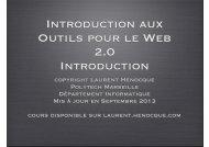 Introdution aux Outils pour le Web.key - Laurent Henocque