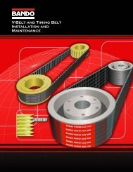 V-Belt and Timing Belt Installation and Maintenance