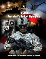 FY14 President's Budget Highlights - Army Financial Management ...