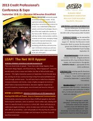 LEAP! The Net Will Appear - Wisconsin Credit Association