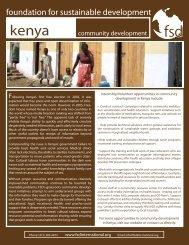 Kenya - community development - Foundation for Sustainable ...