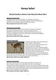 The Best of Kenya - Zentrum Reisen AG