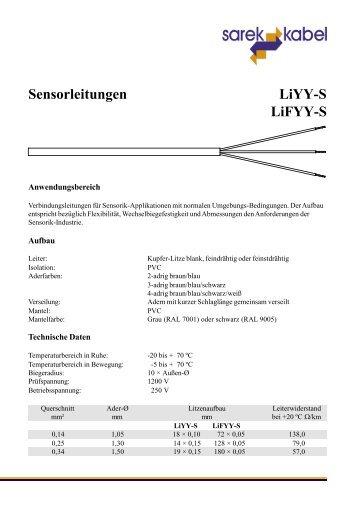 Sensorleitungen LiYY-S LiFYY-S