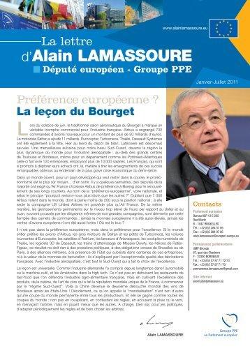 Lettre d'information Jan-Juil 2011 - Alain Lamassoure