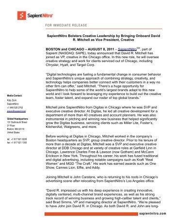sapient press release template