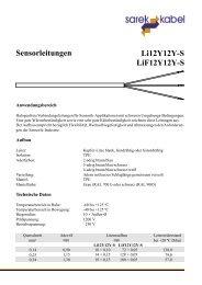 Li12Y12Y-S LiF12Y12Y-S Sensorleitungen