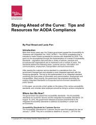 Staying Ahead of the Curve: Tips and Resources for ... - Hicks Morley
