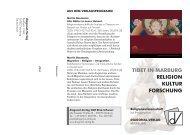 TIBET IN MARBURG RELIGION KULTUR FORSCHUNG