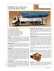 36-Meter Truck Mounted Concrete Boom Pump